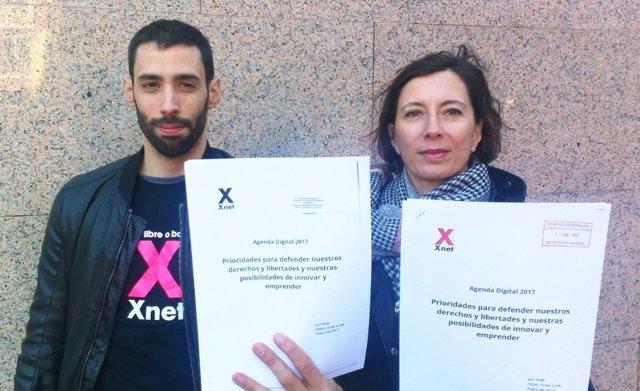 Xnet registra su propuesta de Agenda Digital 2017