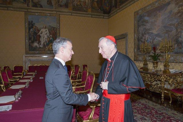 Urkullu eta Parolin kardinala