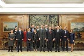 Tolón y Mariscal, en La Zarzuela con el Rey y los alcaldes de las Ciudades Patrimonio de la Humanidad de España