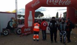 Cruz Roja atiende a cerca de un centenar de personas durante Pingüinos