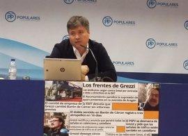 """El PP pide el cese de Grezzi por una """"pésima gestión"""" que """"perjudica a los valencianos"""""""