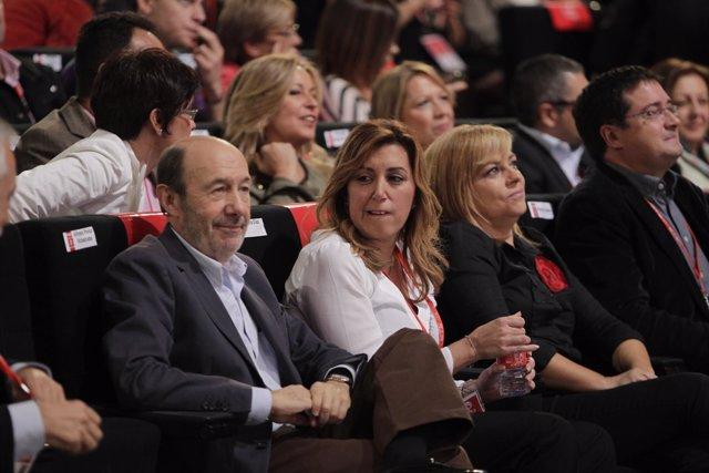 Alfredo Pérez Rubalcaba y Susana Díaz