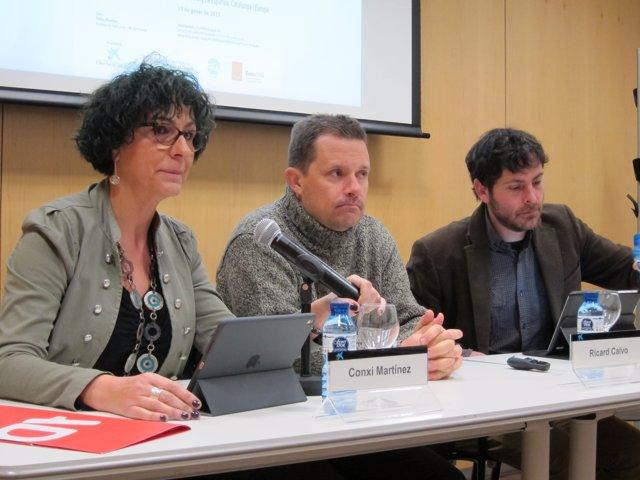 Conxi Martínez, Ricard Calvo y David Astiz