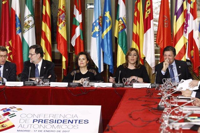 Feijóo, Rajoy, Santamaría, Susana Díaz y Javier Fernández