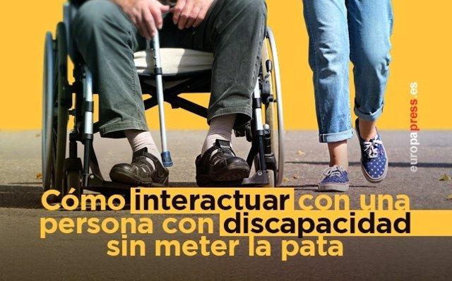 Cómo interactuar con una persona con discapacidad sin meter la pata.