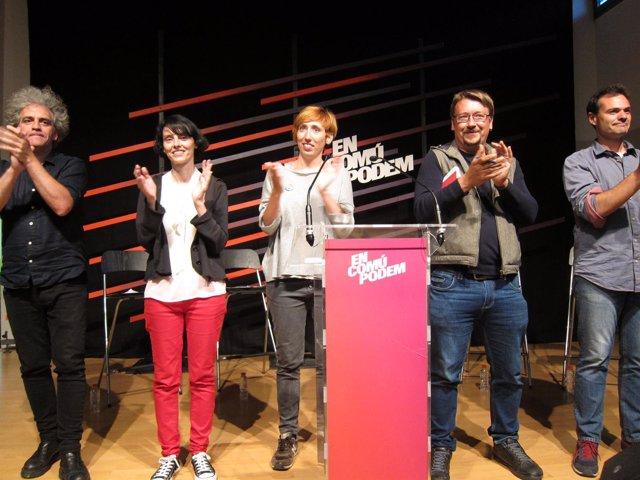 X.Domènech, Marcos Ortega, Maria Freixanet, Marcelo Exposito y Mar García.