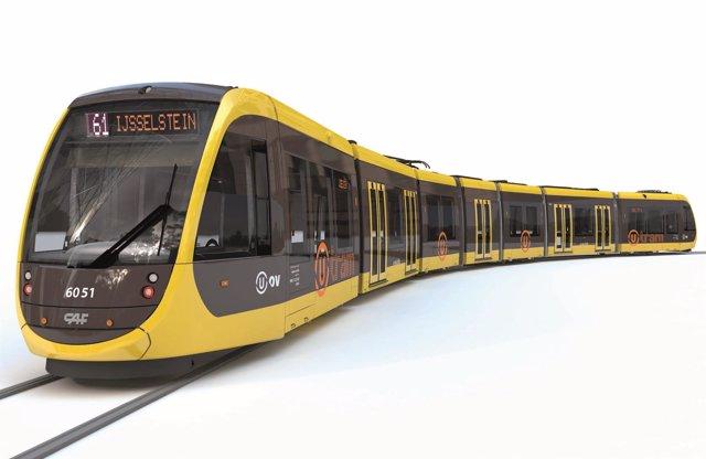 Tranvía que CAF suministra a Utrech