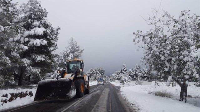 Imagen de la nieve en Jávea