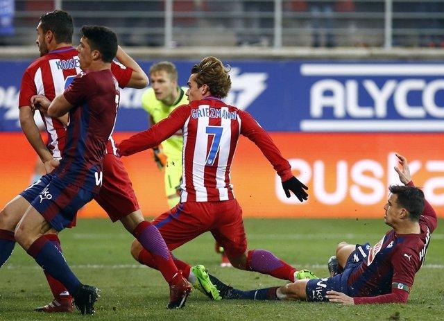Griezmann en el Eibar - Atlético Madrid