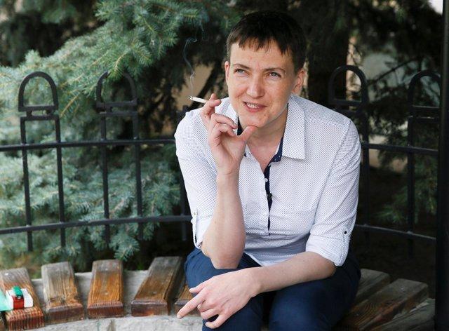 La piloto militar y diputada ucraniana Nadiya Savchenko.