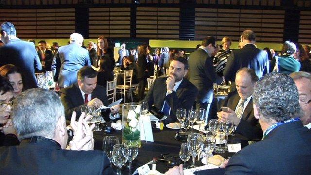 El consejero de Turismo Francisco Javier Fernández en la gala dela OMT en Fitur