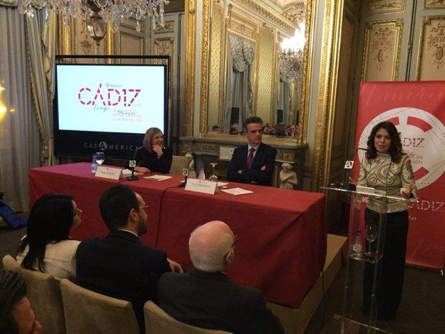 Presentación del Tricentenario en la Casa de América, en Madrid