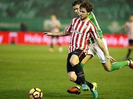 Yeray Álvarez podría jugar el domingo ante el Atlético de Madrid