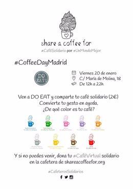 Share A Coffee For: Evento Solidario #Coffeedaymadrid 20 Enero Para Recaudar Fon