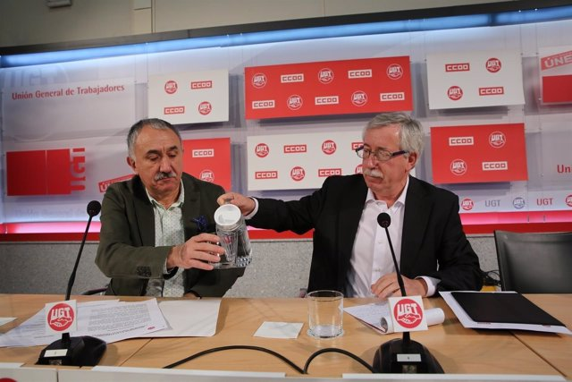 Pepe Álvarez y Ignacio Fernández Toxo