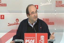 """Iceta insiste en que el PSC condena la """"senda de desobediencia"""" en Cataluña"""