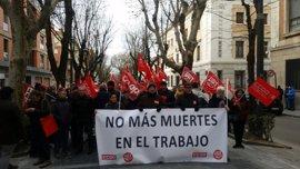Sindicatos se concentran en Guadalajara para lamentar el primer siniestro laboral del año