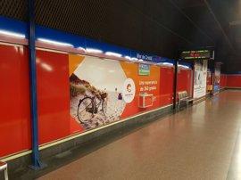 La Costa del Sol se promociona en el metro de Madrid y en Atocha para captar visitantes