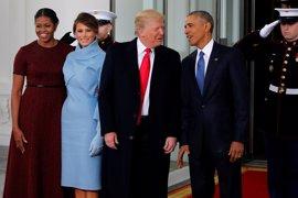 Los Obama reciben a los Trump en la Casa Blanca