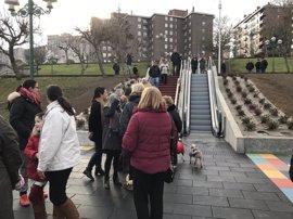 Inauguradas las escaleras y rampas de Los Castros a General Dávila