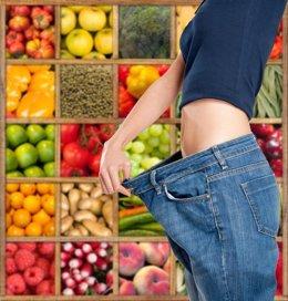 Dieta. Perder peso. Adelgazar. Frutas y verduras para perder peso