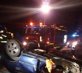 Un herido al salirse de la vía su vehículo y volcar en la carretera A-1503 en El Frasno