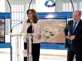 Susana Díaz anuncia 35,8 millones para inversiones hidráulicas en la provincia de Sevilla