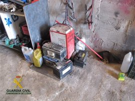 La Guardia Civil localiza dos talleres mecánicos ilegales en Lleida
