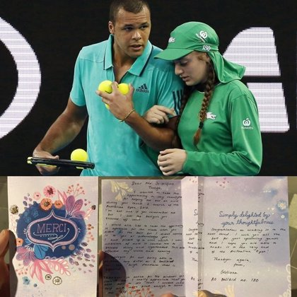 Carta de agradecimiento a un tenista: los pequeños grandes gestos nunca se olvidan