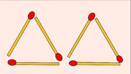 El desafío mental de los triángulos y las cerillas