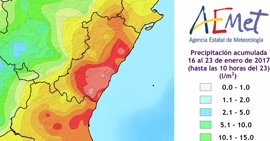 Emergencias da por finalizado el temporal que ha dejado más de 300 l/m2 en Alicante