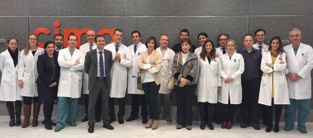 Científicos del grupo de investigación BIOMARCS de la Universidad de Navarra.