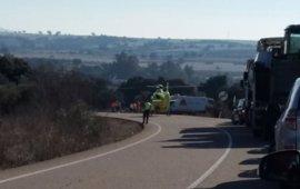 Una mujer en estado crítico al sufrir un accidente cerca de Aljucén (Badajoz)
