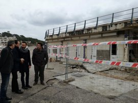 Las obras para reparar el dique de Cala Rajada se tramitarán por vía de emergencia