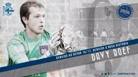 El Deportivo refuerza su portería con el belga Davy Roef y cede a Rubén Martínez al Anderlecht