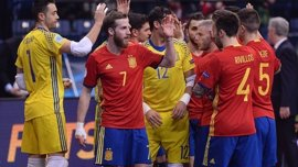 España logra una victoria contundente ante Montenegro en un partido amistoso