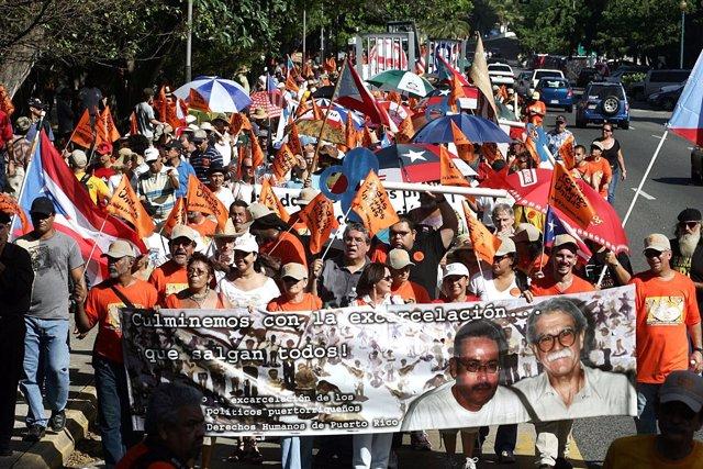 Protesta por la liberación de Óscar López Rivera