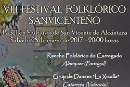 Grupos de Portugal y Valencia actúan en el Festival Folklórico de San Vicente de Alcántara