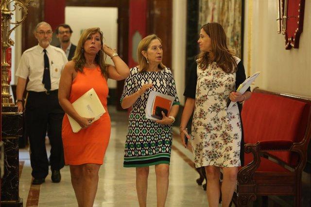 Ana Pastor tras la reunión de la Mesa del Congreso