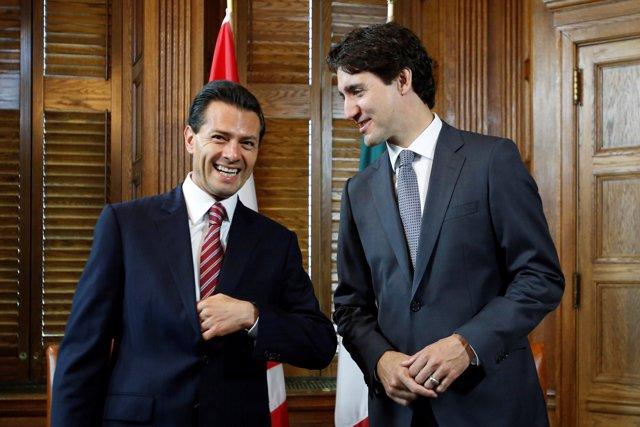 Peña Nieto y Justin Trudeau