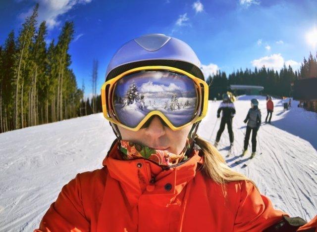 Esquiar, nieve