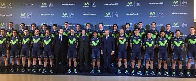 Presentación del Movistar Team
