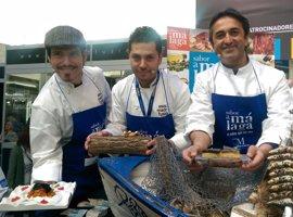 Los chefs José Carlos García, Diego Gallegos y Sergio Garrido reinventan el 'pescaíto' en Madrid Fusión