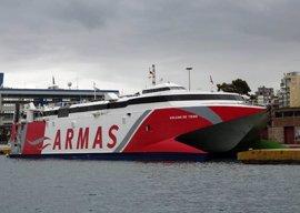 Armas posiciona en Motril un fast ferry para reforzar sus líneas con Melilla y Marruecos