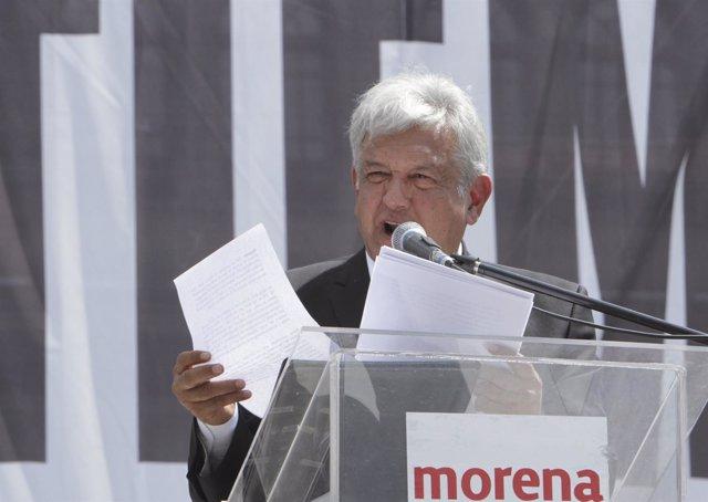 El líder del MORENA, Andrés Manuel López Obrador