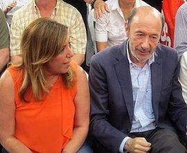 Susana Díaz y Rubalcaba participan en los actos del 130 aniversario del PSOE de Alcalá de los Gazules