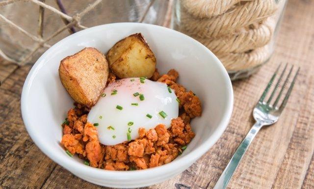 Uno de los platos de Pepe Solla