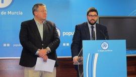 Agua, financiación, alta velocidad y corredor, centran las 64 enmiendas presentadas por PP Murcia al Congreso Nacional