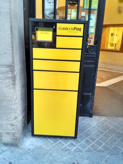 Correos instala en Huesca cinco dispositivos para la recogida automática de paquetes