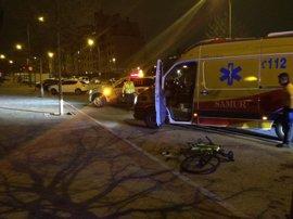 Herido grave un ciclista al colisionar con un turismo en Montecarmelo